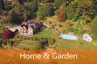 Aerial photographs videos of home and garden as gifts and keepsakes